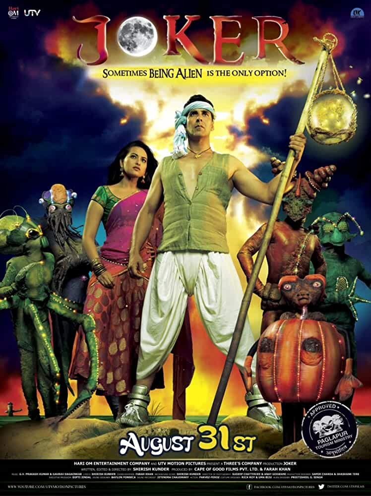 Download Joker 2012 Hindi 480p [300MB]   720p [800MB] HDRip