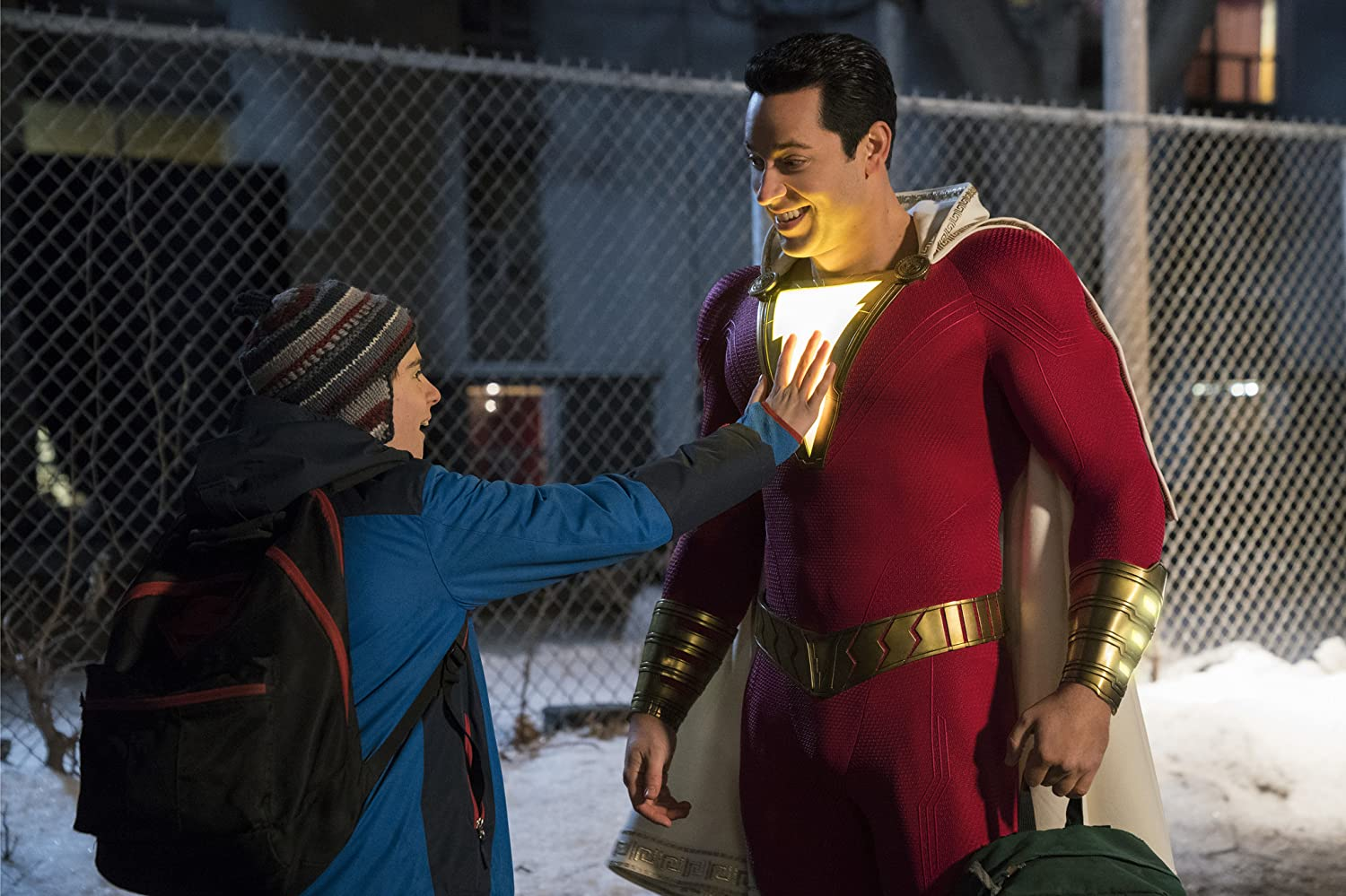 Jack Dylan Grazer and Zachary Levi / Shazam! / DC Comics and Warner Bros. Pictures. © 2019. All rights reserved.