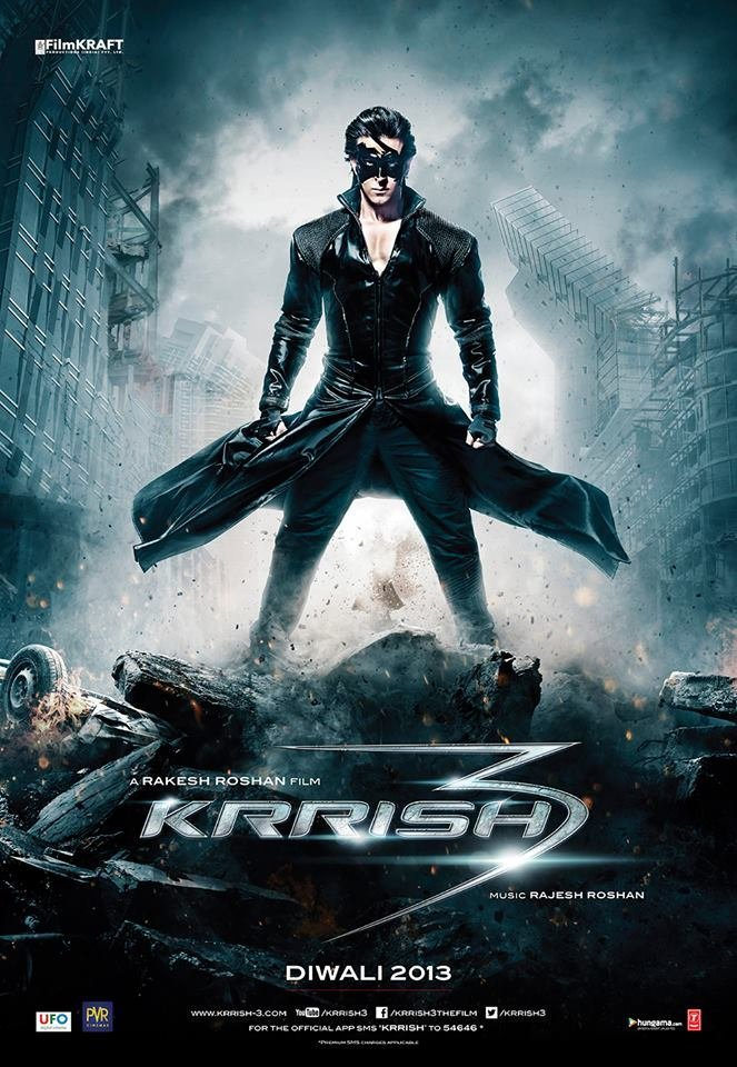 Krrish 3 (2013) Hindi Blu-Ray - 480P | 720P | 1080P - x264 - 400MB | 1.2GB | 2.4GB - Download & Watch Online  Movie Poster - mlsbd