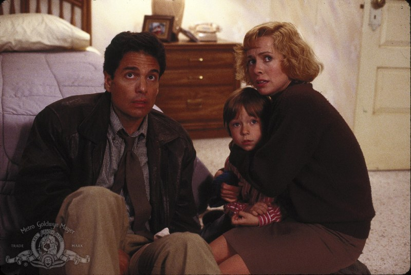 Chris Sarandon, Catherine Hicks, and Alex Vincent in Child's Play (1988)