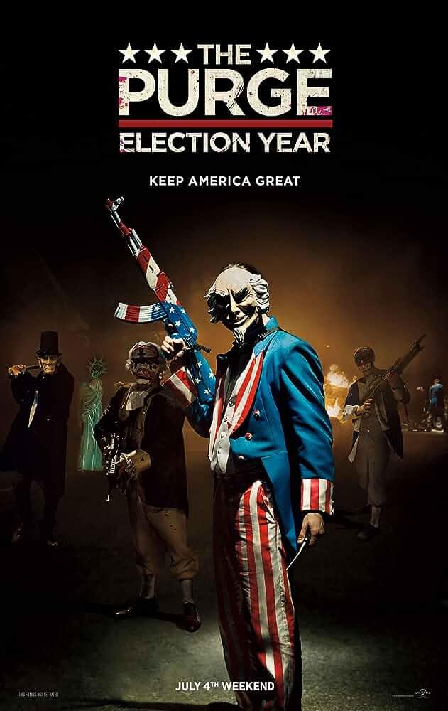 The Purge Election Year 2016 720p BluRay x264 Dual Audio [Hindi 5.1 - English 2.0] ESub