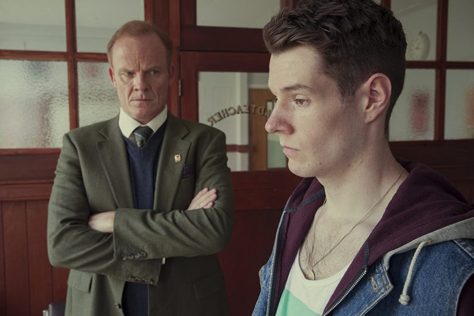 Alistair Petrie and Connor Swindells in Sex Education (2019)