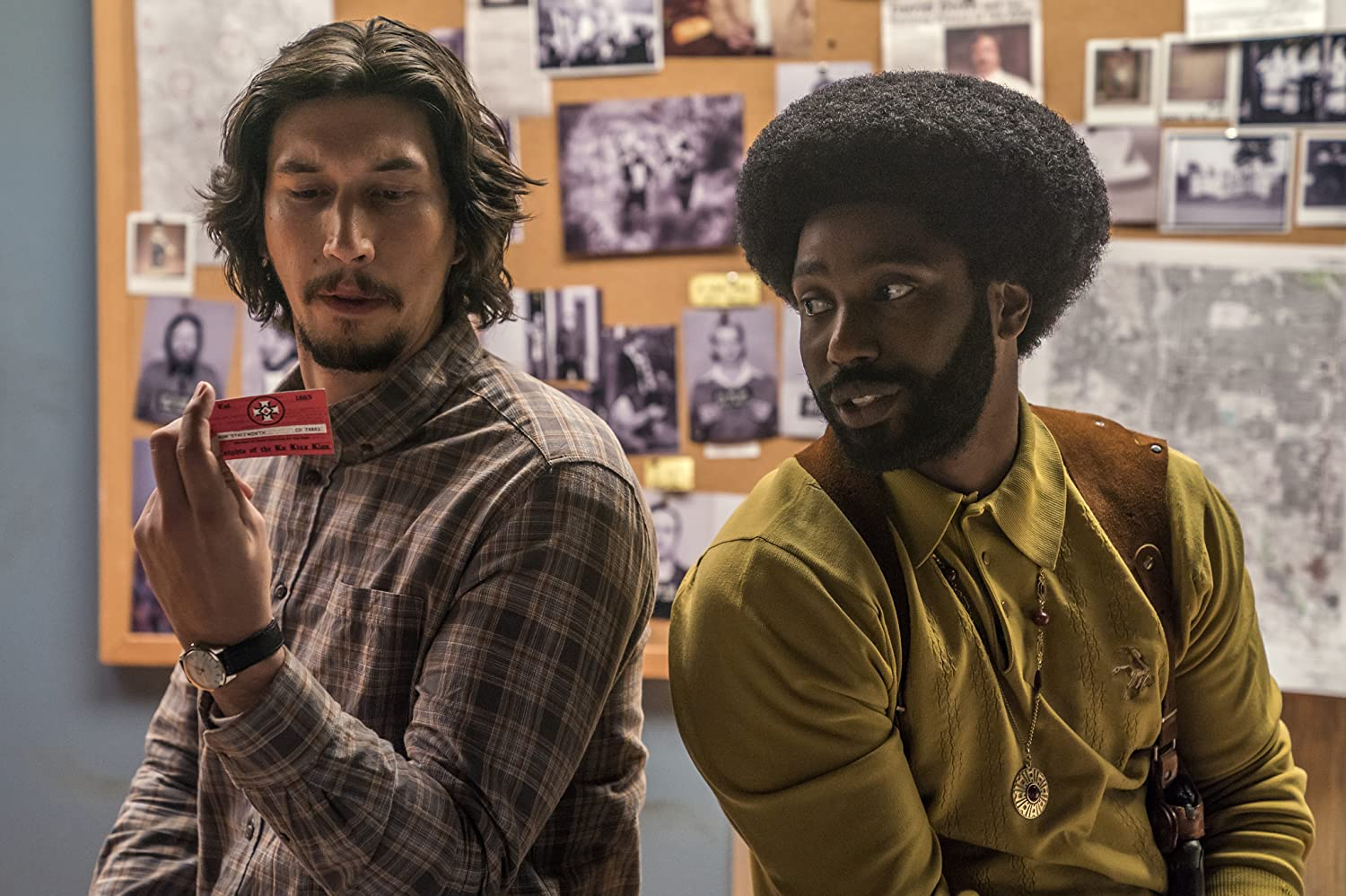 John David Washington and Adam Driver / BlacKkKlansman / Focus Features. © 2018. All rights reserved.