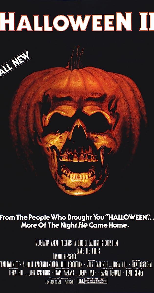 Halloween II (1981) horror movie poster