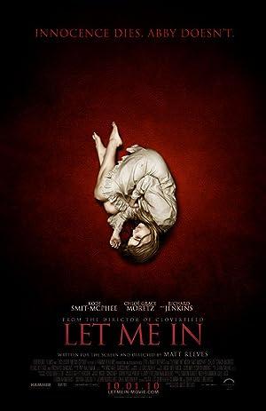 Poster do filme - Deixa-me Entrar - Garota deitada no chão vermelho em posição fetal