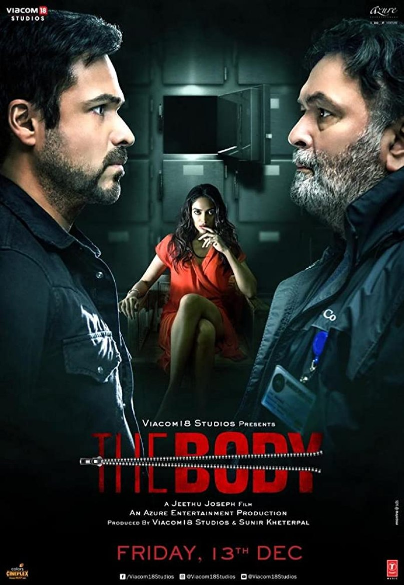Rishi Kapoor, Emraan Hashmi, and Sobhita Dhulipala in The Body (2019)