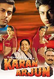 Karan Arjun (1995) Hindi 720p HEVC HDRip x265 AAC Full Bollywood Movie [850MB]