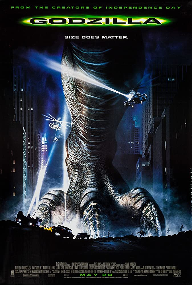 Godzilla 1998 Movie BRRip Dual Audio Hindi Eng 400mb 480p 1.2GB 720p
