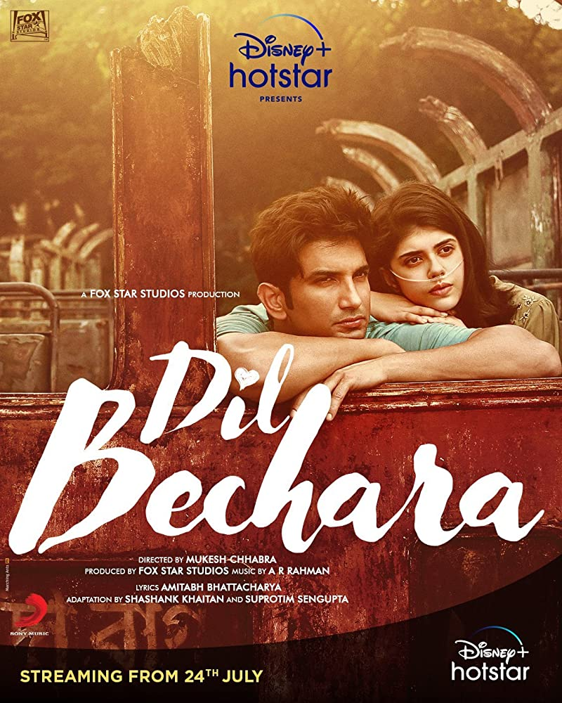 Dil Bechara 2020 Hindi Movie 720p HDRip 700MB Download *Exclusive*