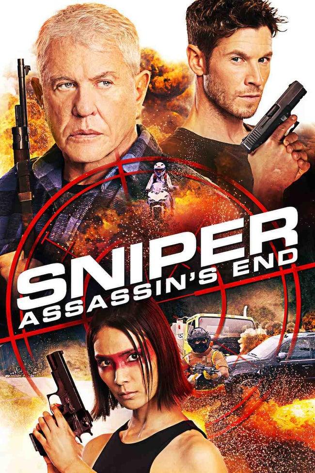 Tom Berenger, Chad Michael Collins, and Sayaka Akimoto in Sniper: Assassin's End (2020)