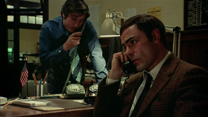 John Rutter and John Saxon in Black Christmas (1974)