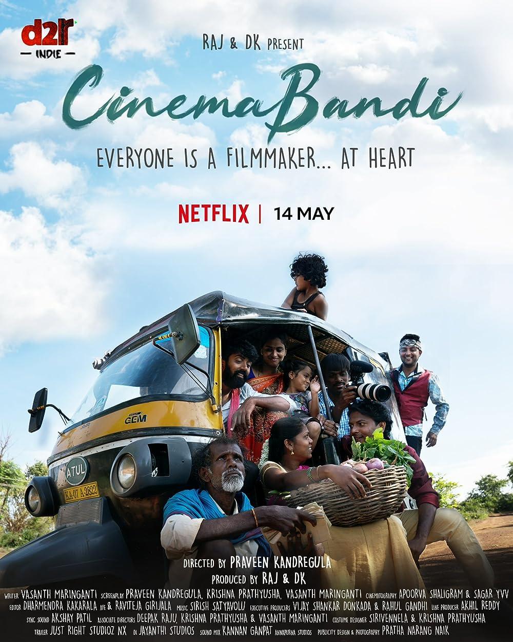 Cinema Bandi 2021 Telugu 720p NF HDRip 1GB | 408MB Download