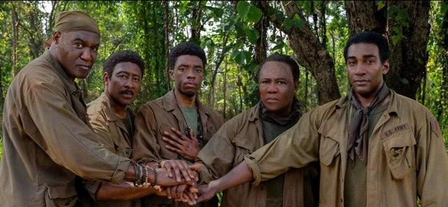 Delroy Lindo, Norm Lewis, Clarke Peters, Isiah Whitlock Jr., and Chadwick Boseman in Da 5 Bloods (2020)