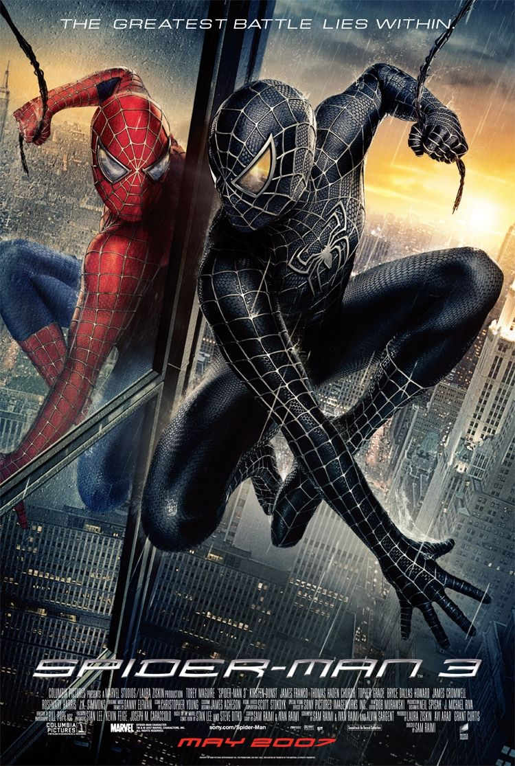 [PG-13] Spider-Man 3 (2007) Dual Audio Blu-Ray - 480P | 720P - x264 - 350MB | 800MB - Download & Watch Online With Subtitle Movie Poster - mlsbd