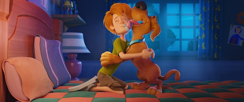 Frank Welker and Iain Armitage in Scoob (2020)