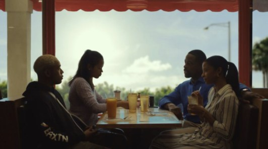 Renée Elise Goldsberry, Sterling K. Brown, Kelvin Harrison Jr., and Taylor Russell in Waves (2019)
