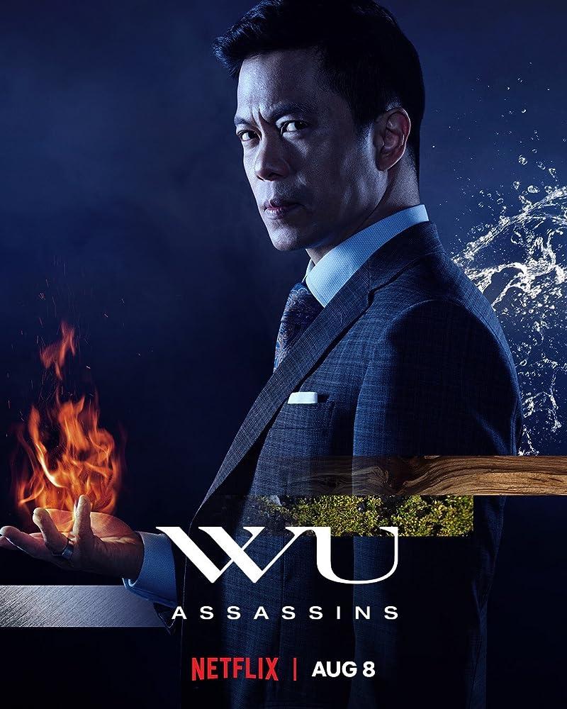 Wu Assassins poster featuring Byron Mann as the villain Uncle Six.