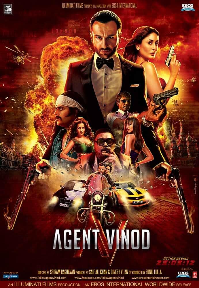 Download Agent Vinod (2012) Hindi movie 480p [500MB] | 720p
