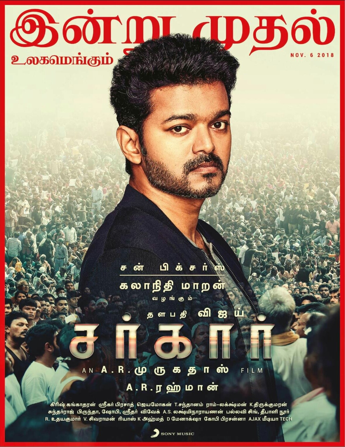 Sarkar (2020) Tamil 720p WEB-DL x265 AAC 1GB