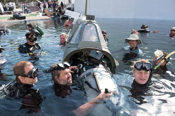 Christopher Nolan, Hoyte Van Hoytema, and Jack Lowden in Dunkirk (2017)