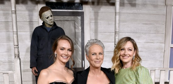 Jamie Lee Curtis, Judy Greer, and Andi Matichak at an event for Halloween (2018)