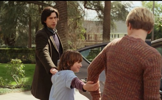 Still of Adam Driver, Azhy Robertson, and Scarlett Johansson in Marriage Story