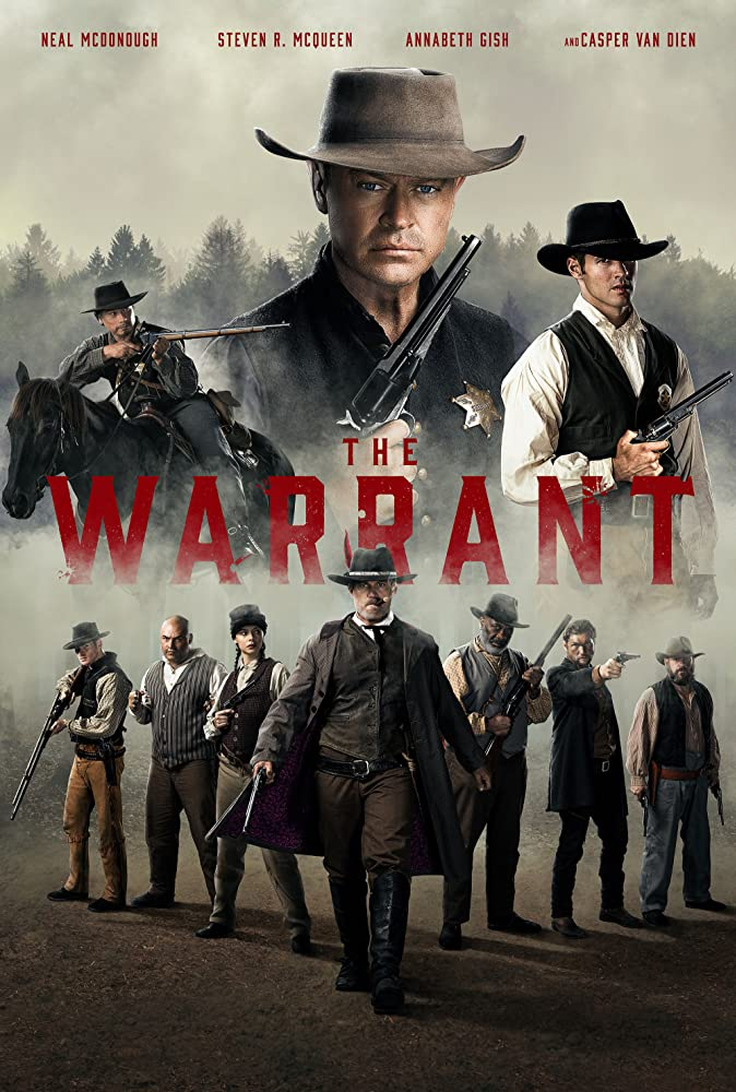 Casper Van Dien, Annabeth Gish, Gregory Cruz, Neal McDonough, Gregory Alan Williams, Esteban Cueto, Steven R. McQueen, Daniel Norris, Isaiah Stratton, and Roxanna Dunlop in The Warrant (2020)
