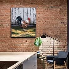 Metal Wall art Oil Painting Rooster