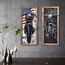 Metal Wall Art Motorbike