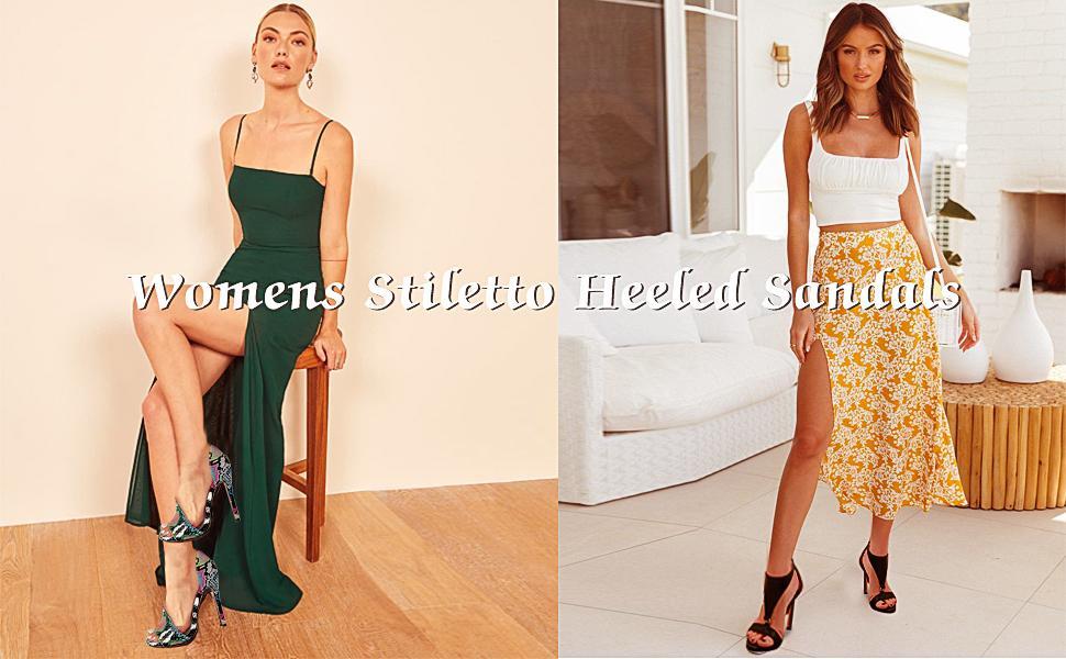 womens high heeled sandals
