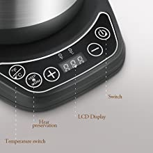 Temperature Control Pour over Coffee Kettle