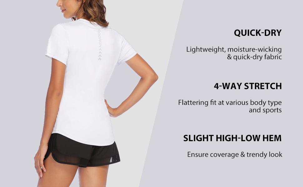 womens quick dry athletic running shirt