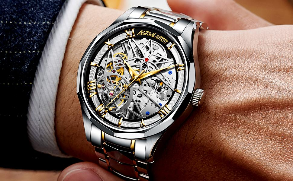 Stainless Steel Men's Watch Automatic Movement Luxury Watch
