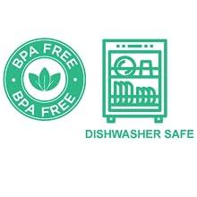 BPA Free and dishwasher safe