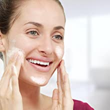 Cleanse skin with a gentle yet effective cleanser morning and night
