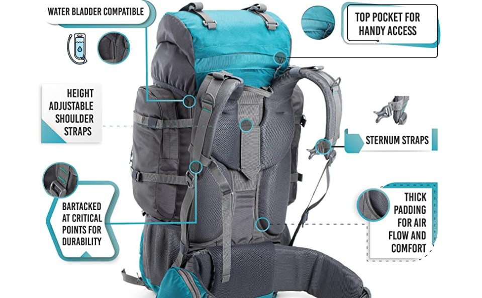 tripole walker rucksack with back features