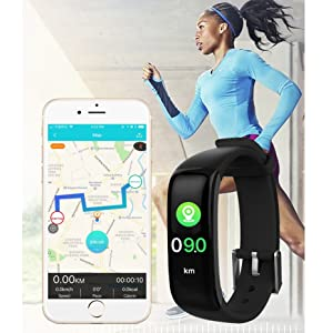 Activity tracker connect to the GPS on cellphone,it displays exercise data and record a map of path