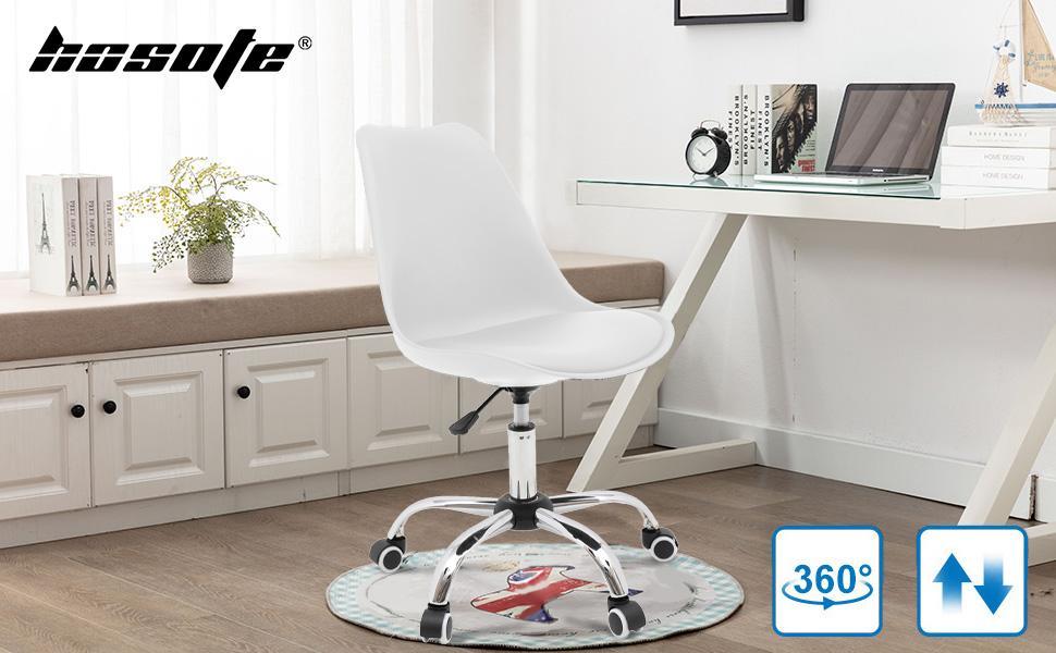 Armless Desk Chair Home Office Chair