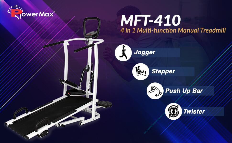 PowerMax Fitness MFT-410 Manual  multi function Treadmill