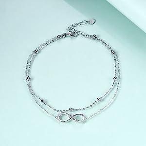 infinity ankle bracelet