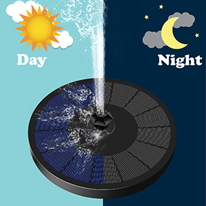 solar water fountains outdoor