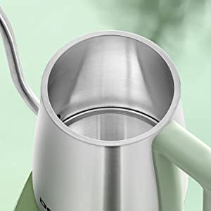 pour over kettle stainless steel
