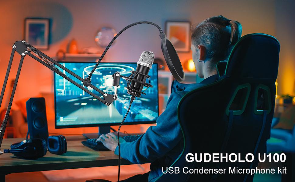 gudeholo u100 usb microphone kit