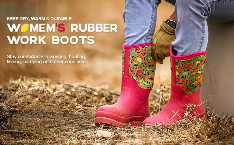 rain boots women rubber work boots