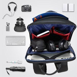 mans backpack