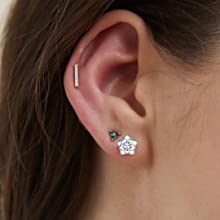 Gacimy sparkle stud earrings for women