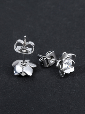 Gacimy sterling silver stud earrings for women