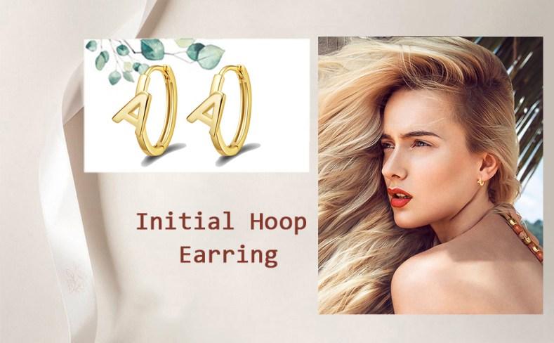 Initial Hoop Earrings