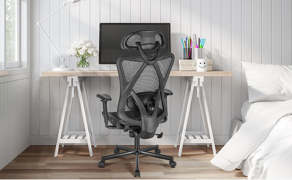 adjustable high back office chair