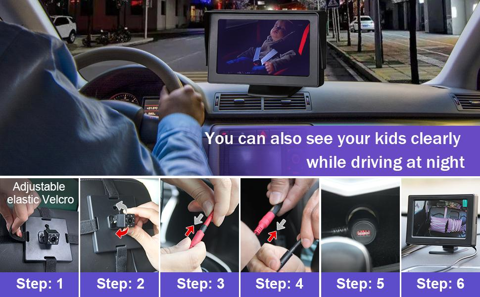baby mirror for car no headrest